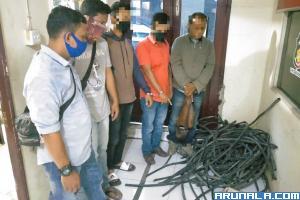 Enam Orang Pencuri Kabel Milik PTSP Diciduk Polisi