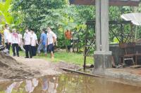 Genius Tinjau Lokasi Banjir di KJA