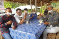 Indra Catri Sapa Pedagang Pasar Malampah di Pasaman