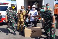 Korem 032/Wirabraja Ikut Membantu Distribusikan APD