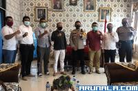 KPU dan Bawaslu Pessel Perkuat Koordinasi dengan Polres