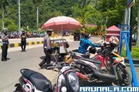 Parkir di Bahu Jalan, Sejumlah Ranmor Ditertibkan