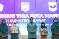 Sumbar Launching Gerakkan Tiga Juta Masker