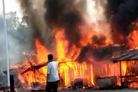 Tujuh Kios Warga Terbakar di Lubuk Alung