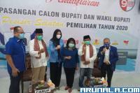 Wasekjen PAN Dampingi RA-RH Mendaftar ke KPU Pessel